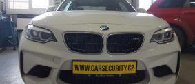 BMW M2 montáž autolarmu Jablotron CA-2103