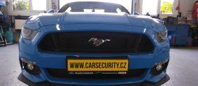 Ford Mustang montáž autoalarmu Jablotron CA-2103