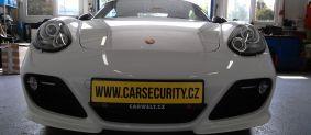 Porsche Cayman R. Montáž autoalarmu s vyhledáváním.