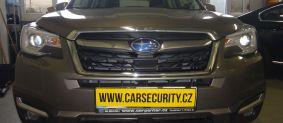 Subaru Forester montáž zámku řazení Construct + tažné zařízení + couvací asistent