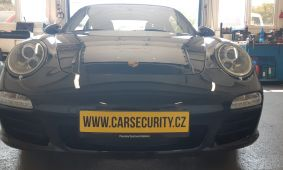 Porsche 911 Carrera S montáž Jablotron CA-2103